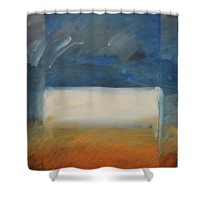 Rothko Shower Curtain featuring the painting Old Macrothko Had A Farm by Tim Nyberg