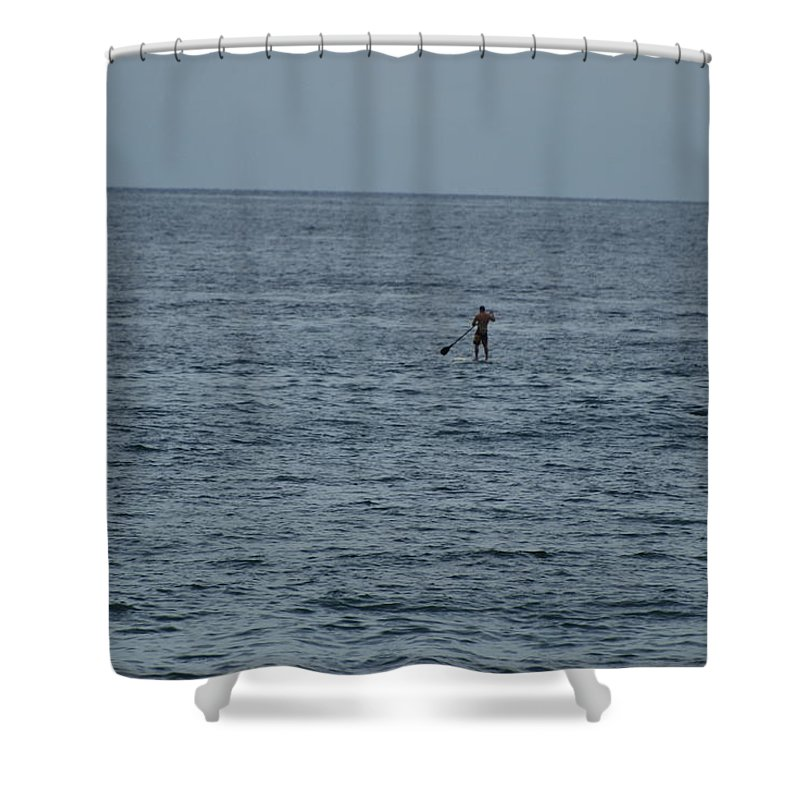 Sea Scape Shower Curtain featuring the photograph Old Man In The Sea by Rob Hans