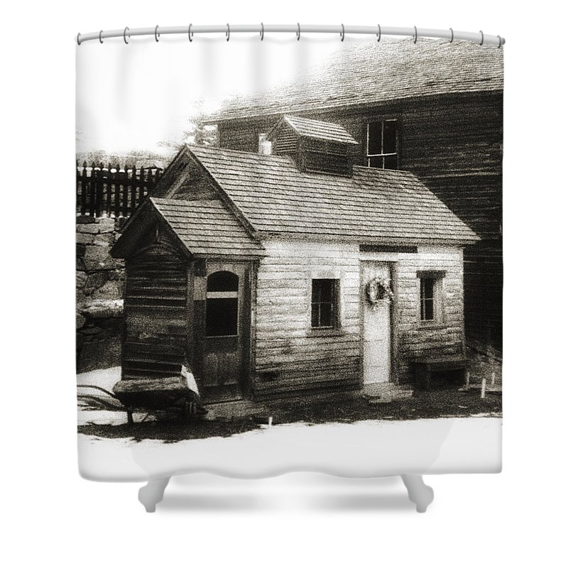 Infrared Shower Curtain featuring the photograph Old Miner by Marilyn Hunt