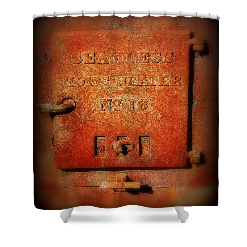 Rust Shower Curtain featuring the photograph Old Number 16 by Perry Webster