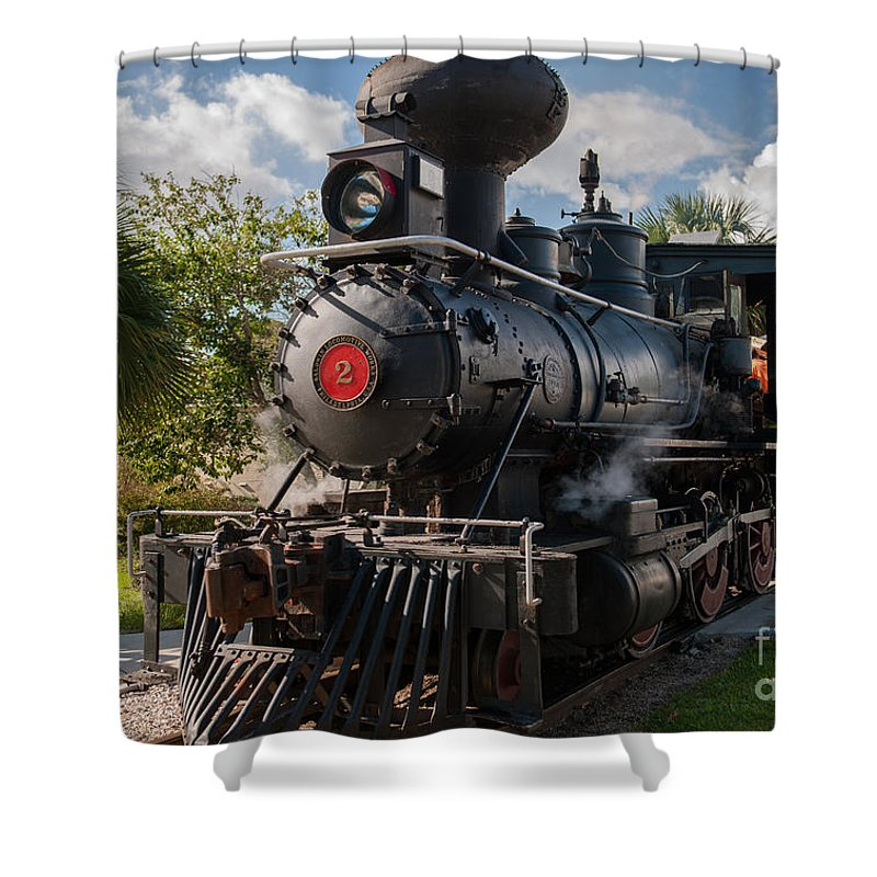 Train Shower Curtain featuring the photograph Old No 2 by Dale Powell