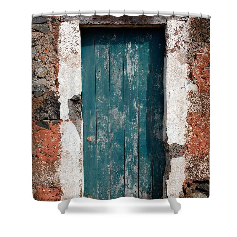 Abandoned Shower Curtain featuring the photograph Old Painted Door by Gaspar Avila