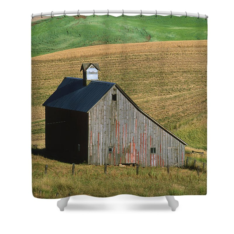 Palouse Shower Curtain featuring the photograph Old Palouse Barn by Sandra Bronstein
