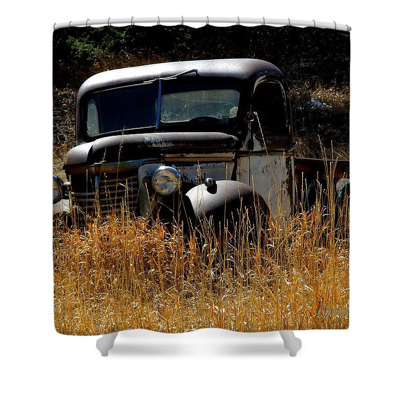 Old Pickup Truck Shower Curtain featuring the photograph Old Pickup Truck by George Tuffy