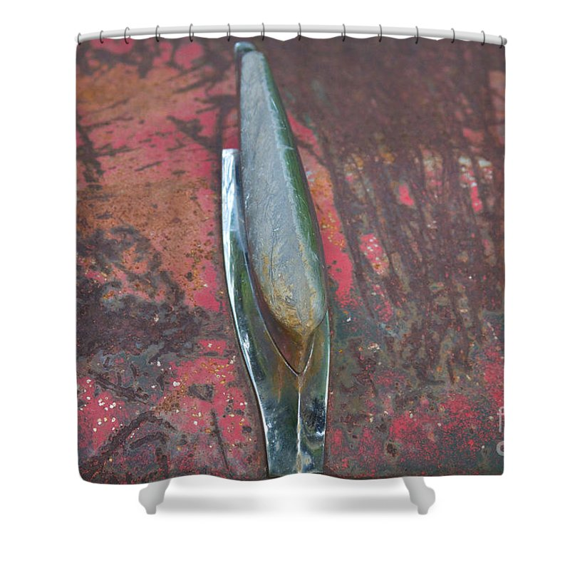 Old Shower Curtain featuring the photograph Old Rusty Hood At 9000 Feet Rocky Mountains Co by James BO Insogna