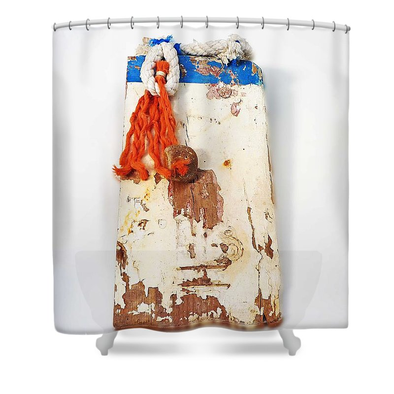 Sculpture Shower Curtain featuring the digital art Old Salt by Charles Stuart