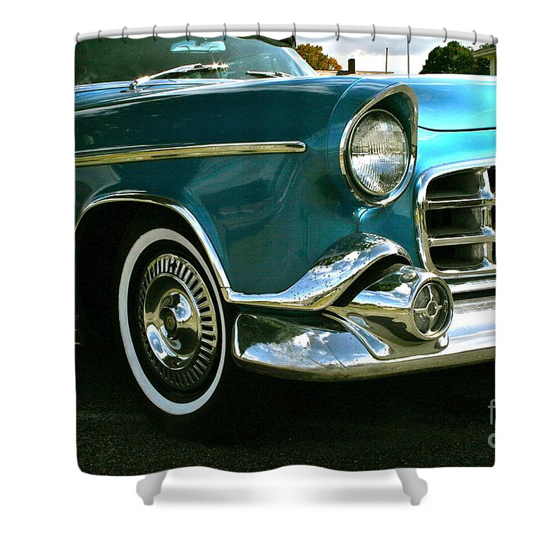 Car Shower Curtain featuring the photograph Old School by Rick Monyahan