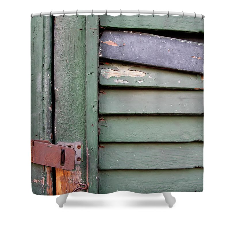 New Orleans Shower Curtain featuring the photograph Old Shutters French Quarter by KG Thienemann