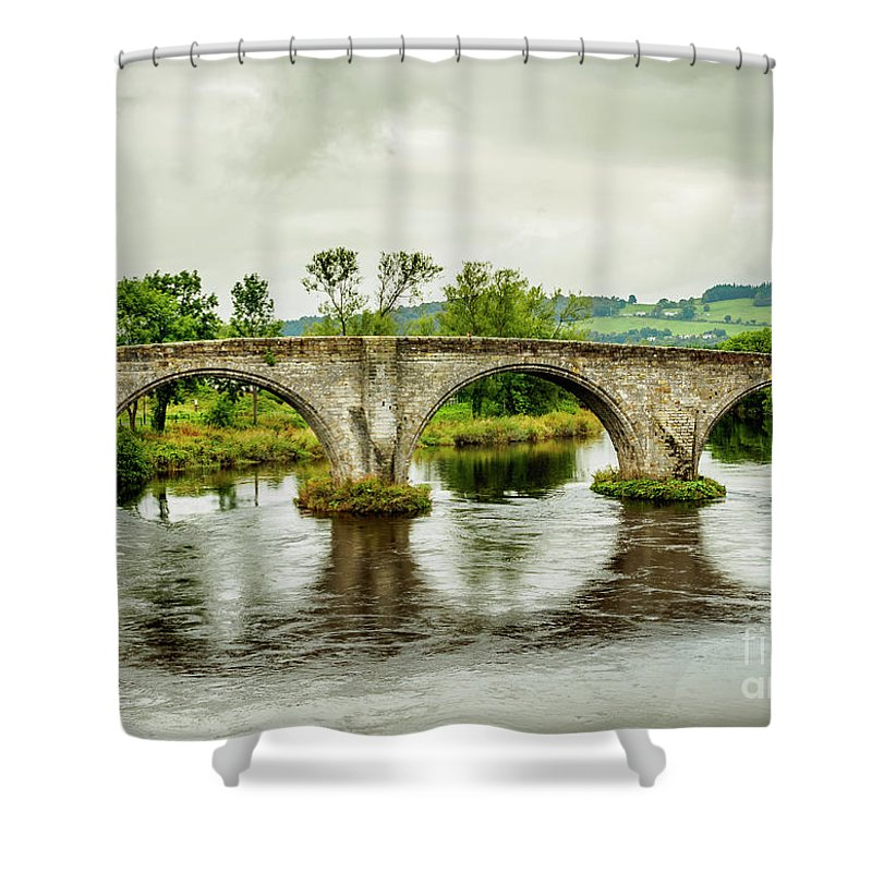 Stirling Shower Curtain featuring the photograph Old Stirling Bridge by Karol Kozlowski