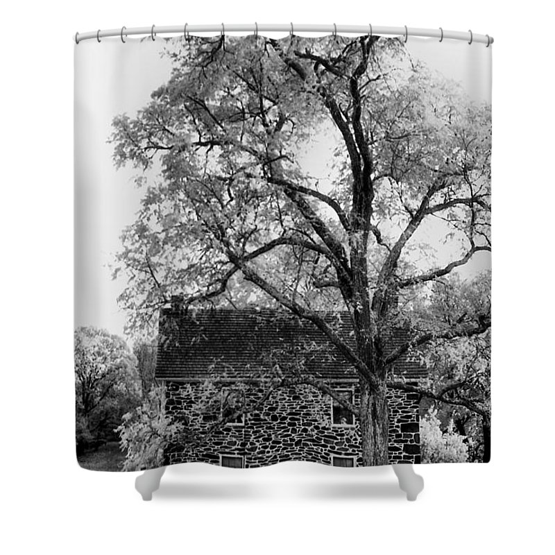 Homes Shower Curtain featuring the photograph Old Stone House by Richard Rizzo