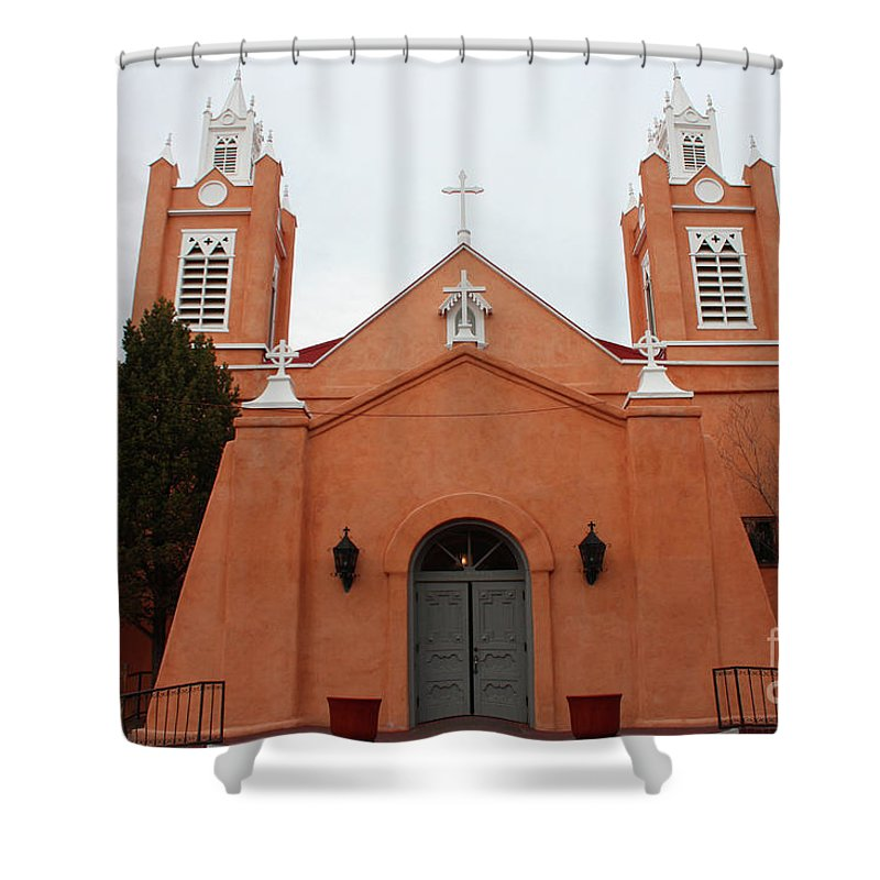 Church Shower Curtain featuring the photograph Old Town Church by Tommy Anderson