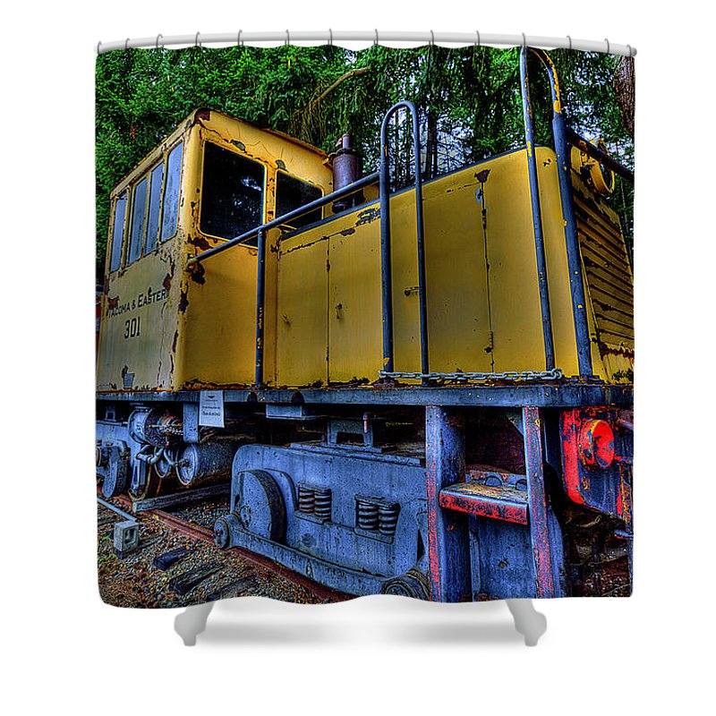 Train Shower Curtain featuring the photograph Old Train by David Patterson