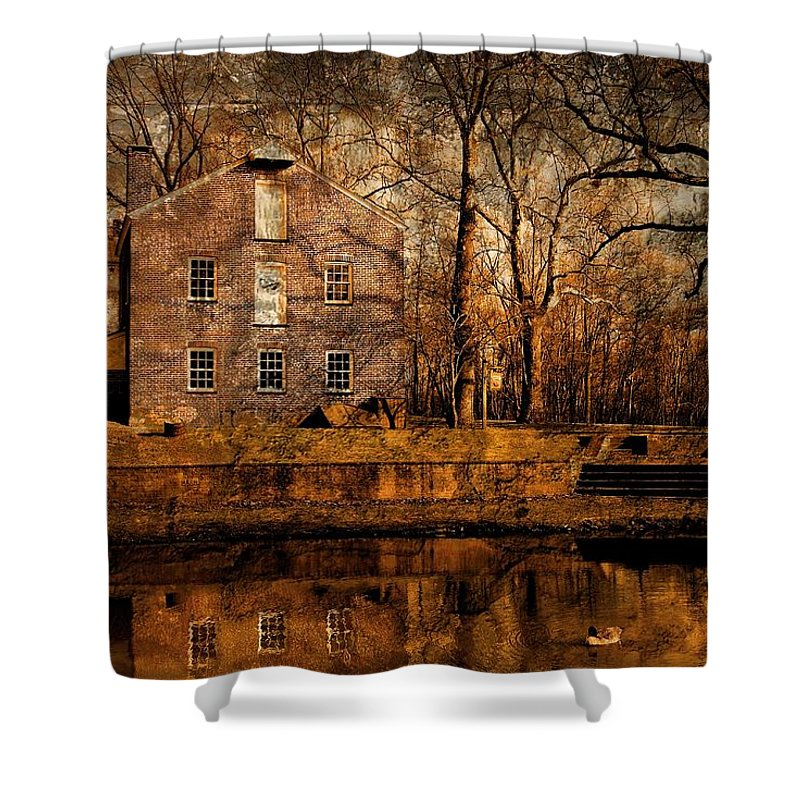 Allaire State Park Shower Curtain featuring the photograph Old Village - Allaire State Park by Angie Tirado