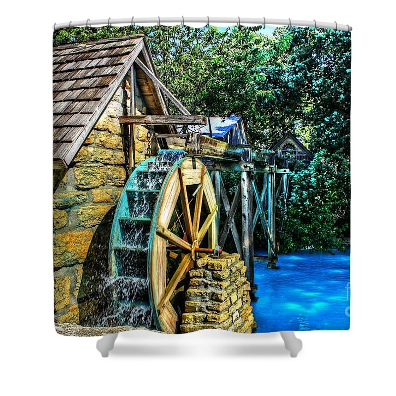 Watermill Shower Curtain featuring the photograph Old Watermill by Jimmy Ostgard
