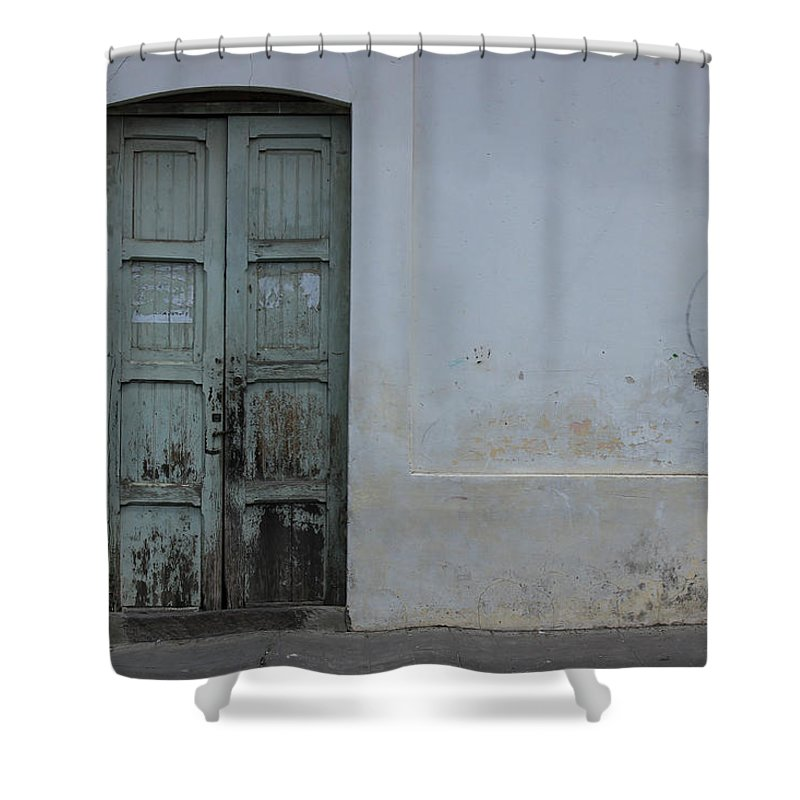 House Shower Curtain featuring the photograph Old Wooden Door by Robert Hamm
