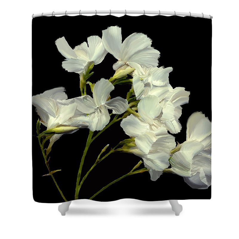 Flowers Shower Curtain featuring the photograph Oleander by Kurt Van Wagner