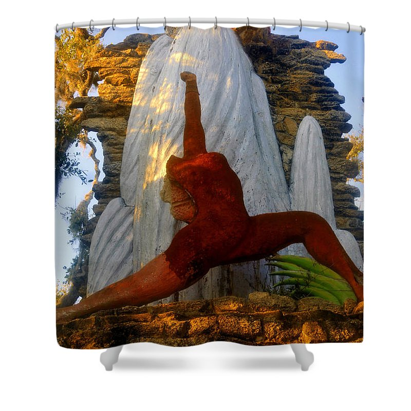 Timucua Indians Shower Curtain featuring the photograph Oleeta of the Timucua by David Lee Thompson