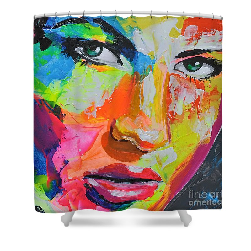 Shower Curtain featuring the painting Olesha by Ilya Konyukhov