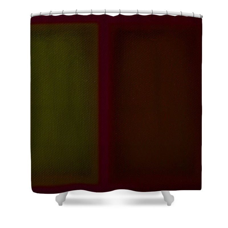 Rothko Shower Curtain featuring the painting Olive Red by Charles Stuart
