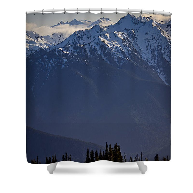 Olympic Mountains Shower Curtain featuring the photograph Olympic National Park by Albert Seger