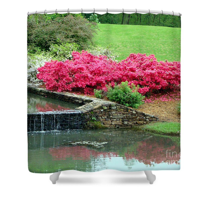 Landscape Shower Curtain featuring the photograph On A June Day by Kathy Bucari