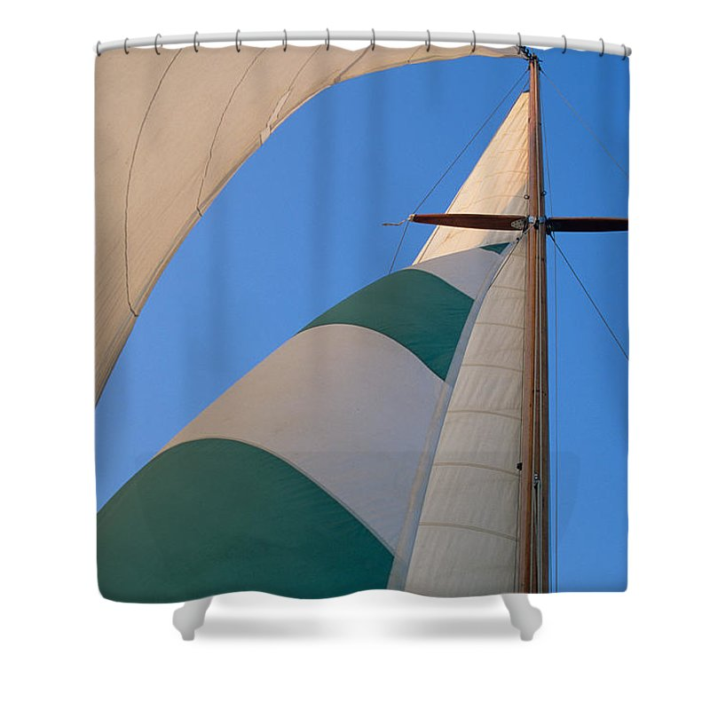 Nautical Shower Curtain featuring the photograph On A Reach by John Harmon