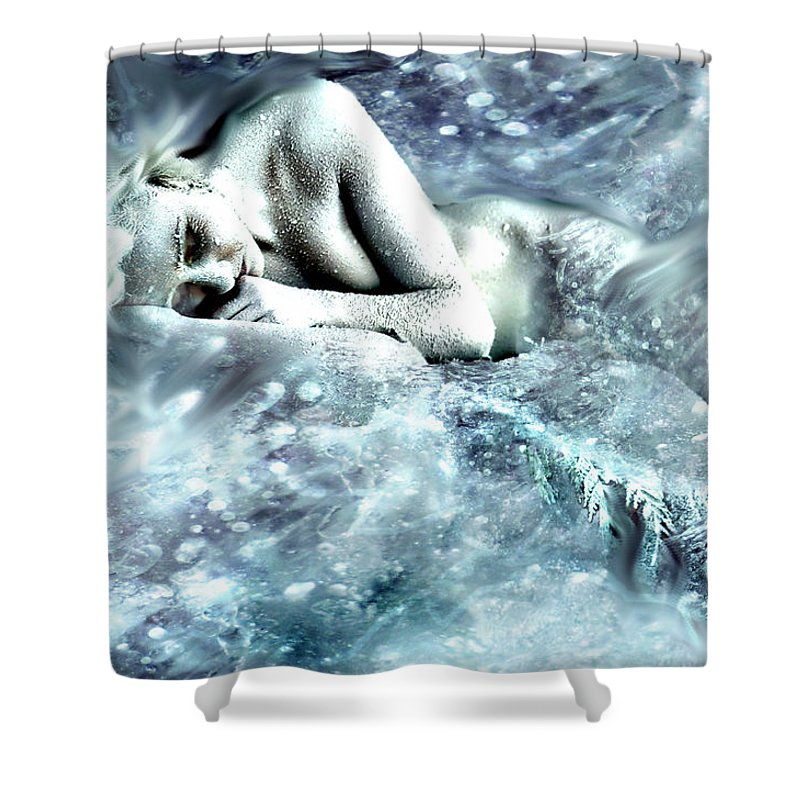 Fine Art Shower Curtain featuring the photograph On Ice by Cliff Nixon