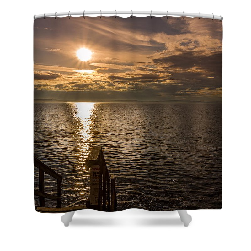Alki Beach Shower Curtain featuring the photograph On It's Way by Calazone's Flics
