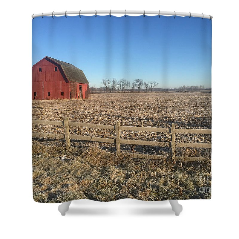 Farm Shower Curtain featuring the photograph On The Road To Howell by Joseph Yarbrough