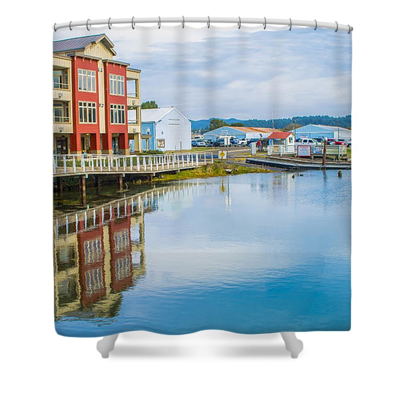 Waterfront Shower Curtain featuring the photograph On The Waterfront by Janna Saltmarsh