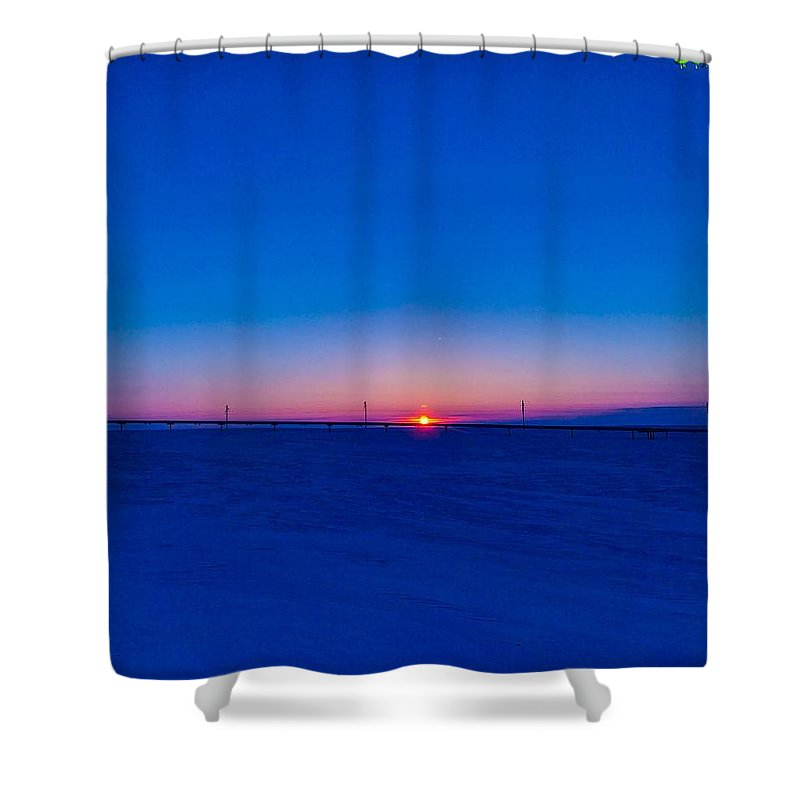 Sunrise Shower Curtain featuring the photograph On The Way Home by Shane Schwark