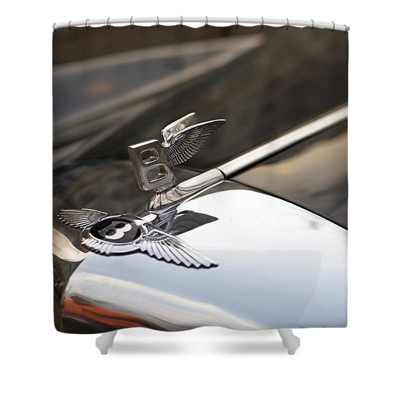 Bentley Shower Curtain featuring the photograph On the wings by Antonio Ballesteros