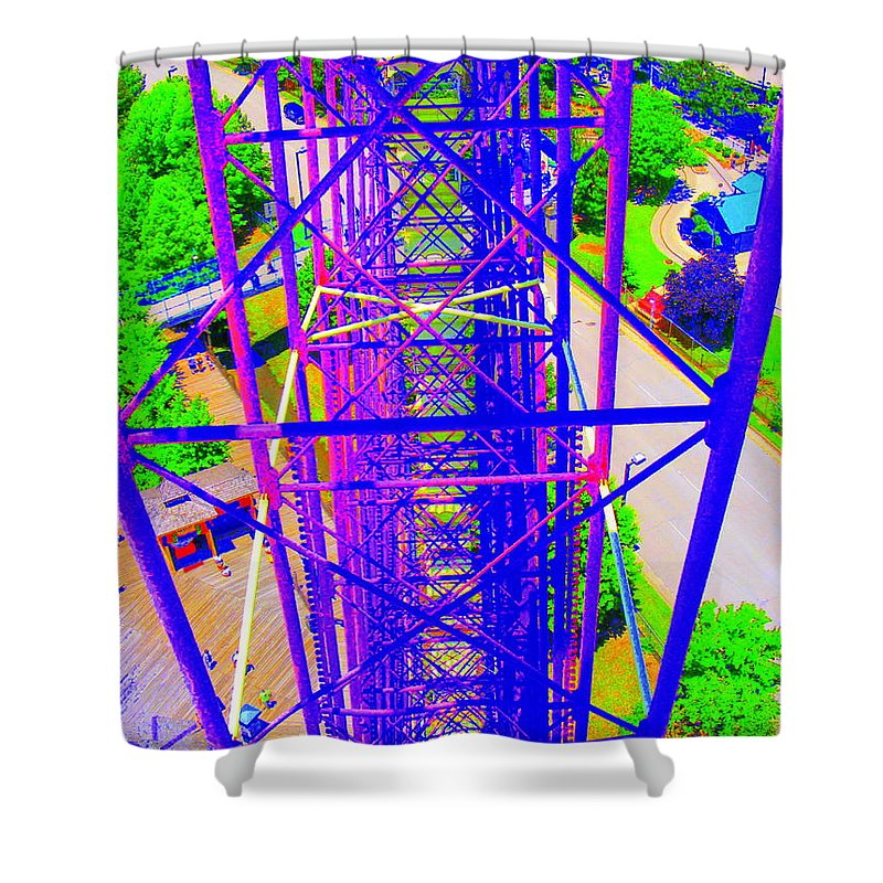 Still Life Shower Curtain featuring the photograph On Top Of The World by Ed Smith