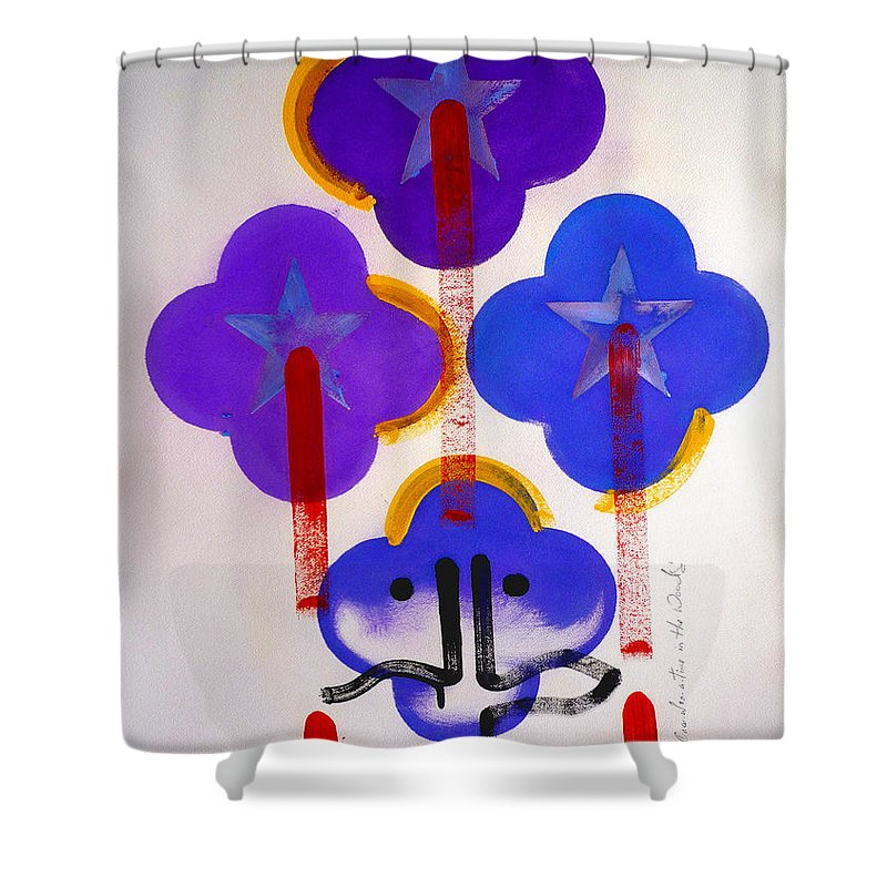 Drawing Shower Curtain featuring the painting Once Upon-a-time In The Woods by Charles Stuart