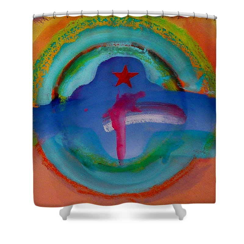 Logo Shower Curtain featuring the painting one by Charles Stuart