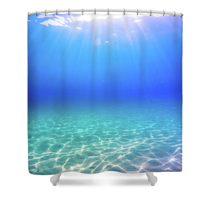 Turquoise Shower Curtain featuring the photograph One Deep Breath by Nicklas Gustafsson