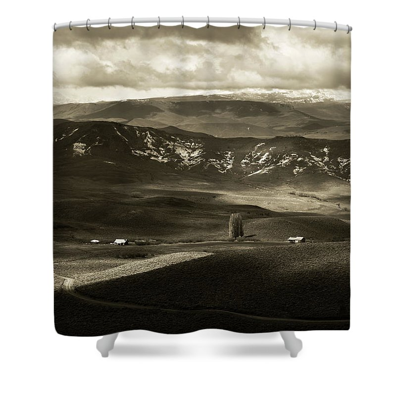 Landscape Shower Curtain featuring the photograph One Fine Day by Osvaldo Hamer