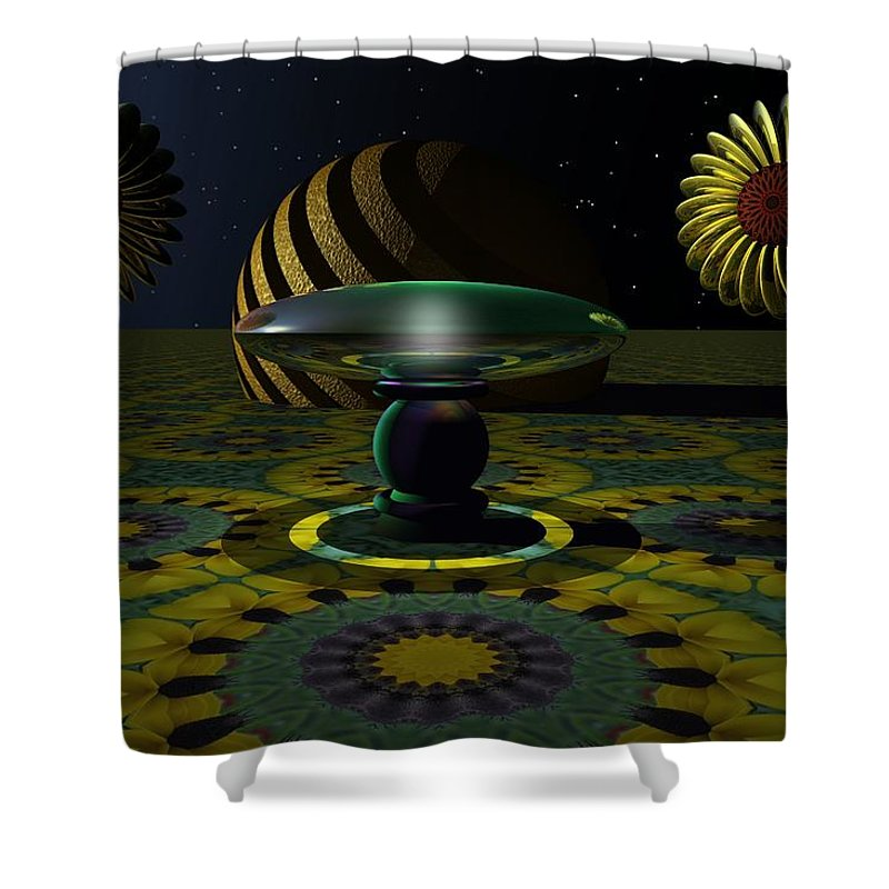 Bryce Shower Curtain featuring the digital art One Last Dream Before Dawn by Lyle Hatch