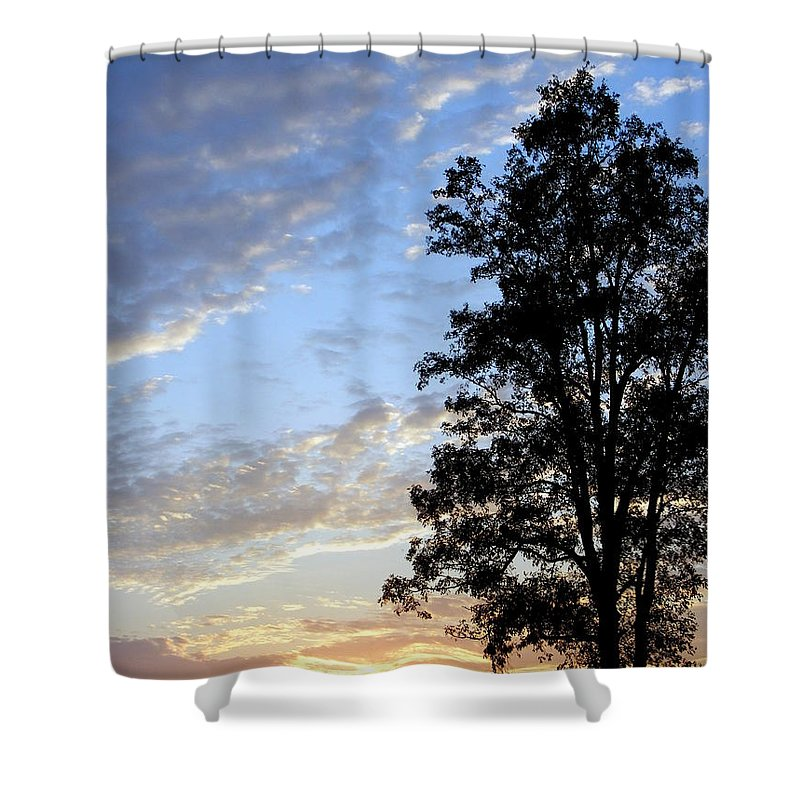 One Tall Order Shower Curtain featuring the photograph One Tall Order by Ed Smith