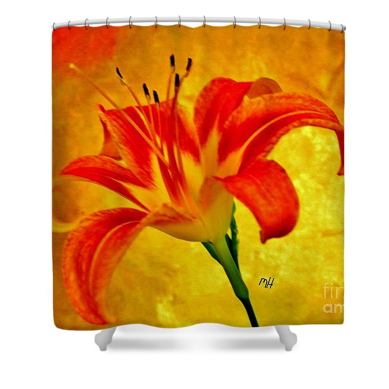 Photo Shower Curtain featuring the photograph One Tigerlily by Marsha Heiken