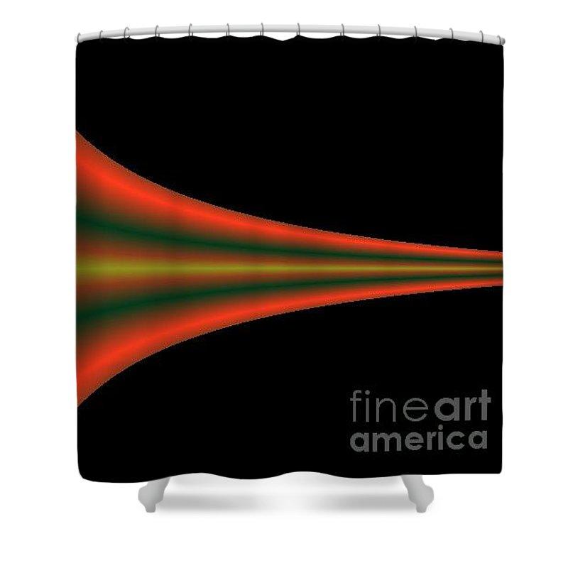 Digital Art Shower Curtain featuring the digital art One way III by Dragica Micki Fortuna