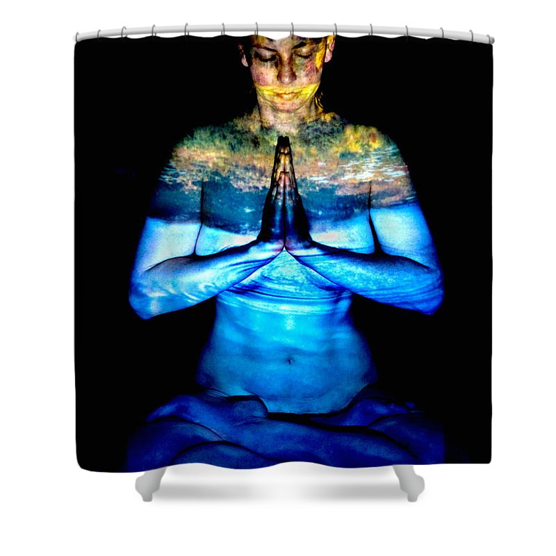 Nature Shower Curtain featuring the photograph One With Nature by Greg Fortier
