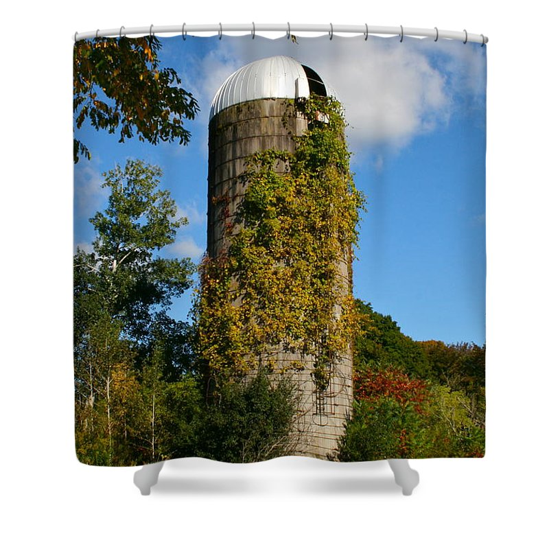 Silo Shower Curtain featuring the photograph One With Nature by Rick Monyahan