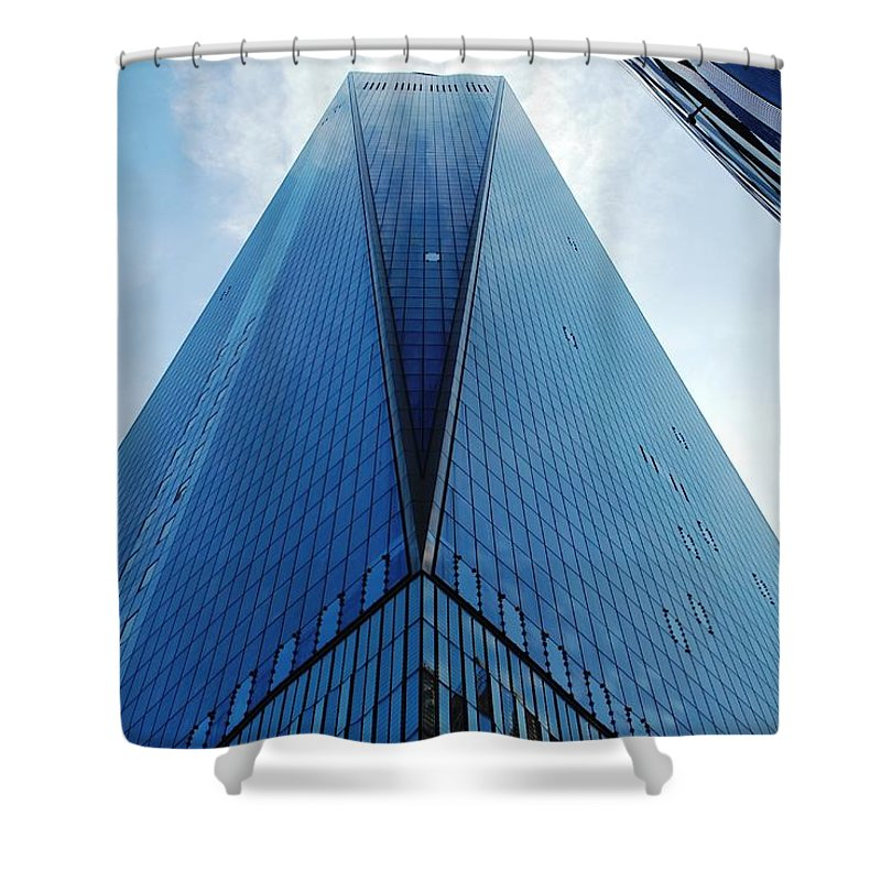 City Shower Curtain featuring the photograph One World Trade Center - Nyc by Matt Harang