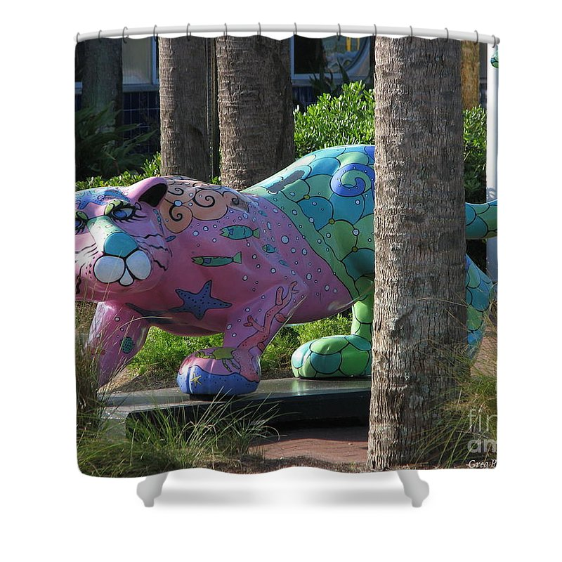 Patzer Shower Curtain featuring the photograph Only At The Beach by Greg Patzer