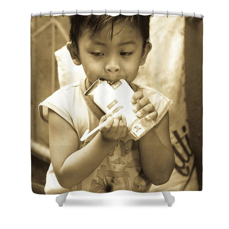 Cavite Shower Curtain featuring the photograph Open Damn You by Jez C Self