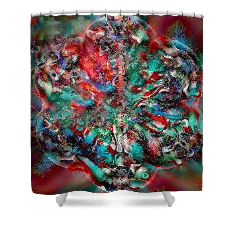 Heart Passion Life Shower Curtain featuring the digital art Open Heart by Veronica Jackson