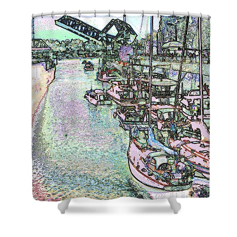 Seattle Shower Curtain featuring the photograph Opening Day Of Boating by Tim Allen