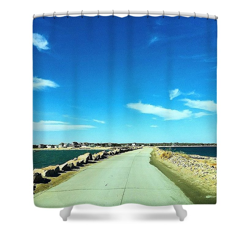Westport Shower Curtain featuring the photograph Open Road by Kate Arsenault
