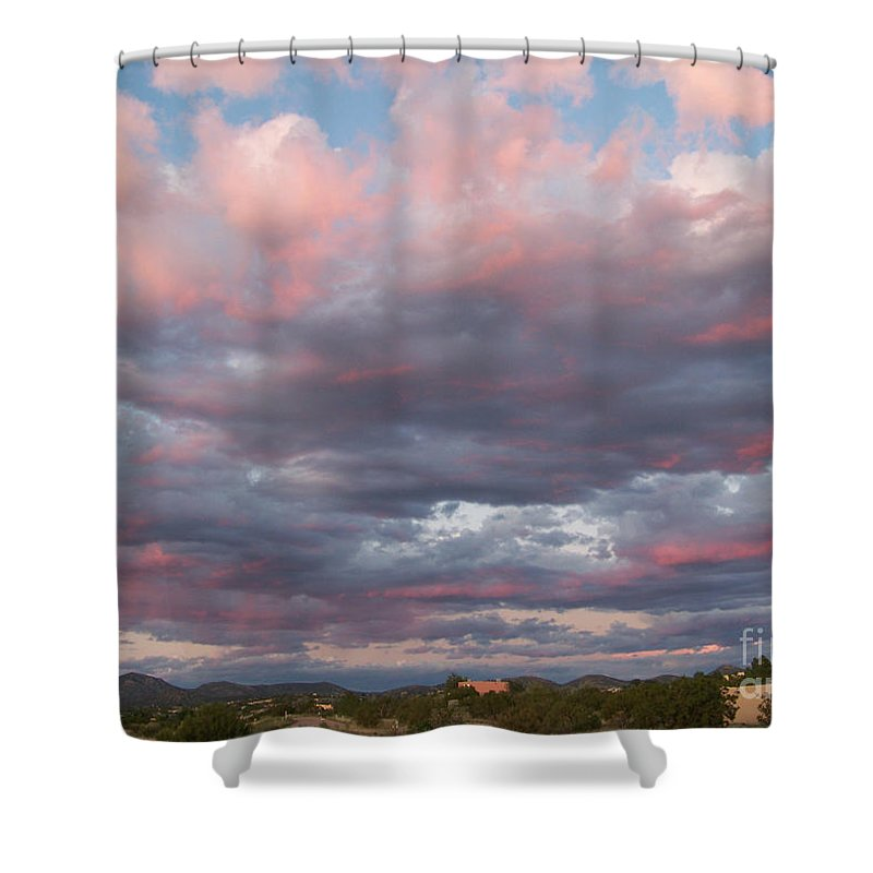 Sunset Shower Curtain featuring the photograph Opposite The Setting Sun by Brian Commerford
